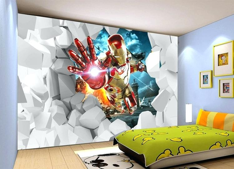 Superheroes Bedroom Decor Unbelievable Marvel Room Amazing ...