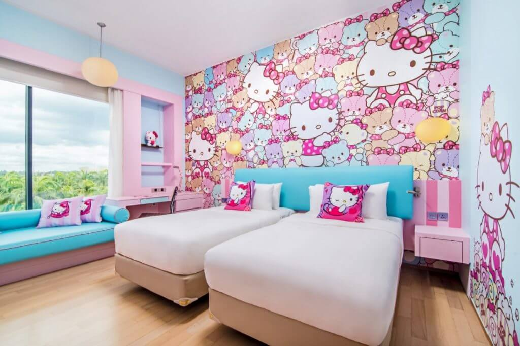 Hello Kitty Room Decor Ideas Adorable Bedroom Decoration Girls Homifind